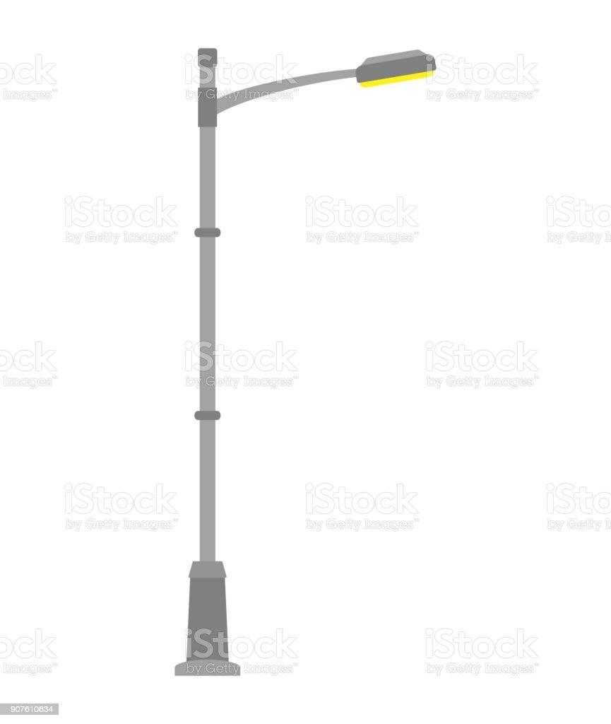 white outdoor lamp post orion street light isolated on white background outdoor lamp post in flat style royaltyfree light isolated on white background post in flat