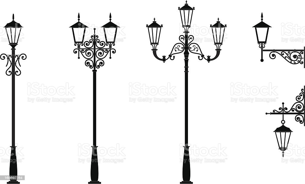 Street Light vector art illustration