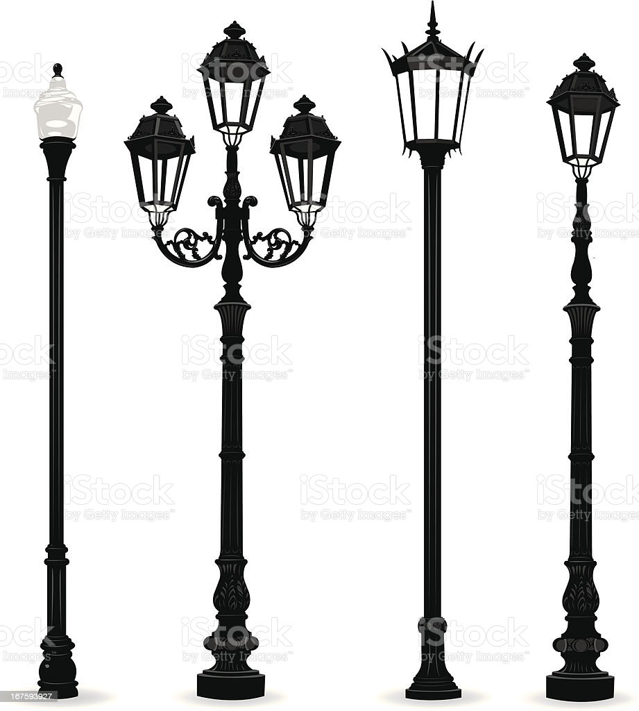 Street Lights - Lighting Equipment vector art illustration