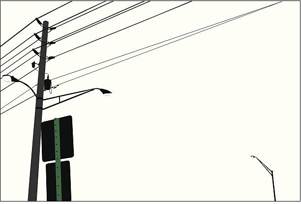 Best Telephone Pole Illustrations, Royalty-Free Vector