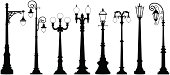 Fancy vector street lights/lanterns.