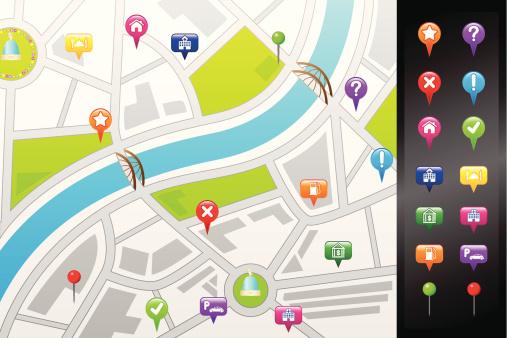 GPS street map
