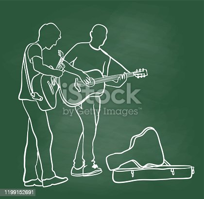 istock Street Musician Jam Chalkboard 1199152691