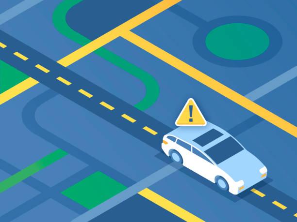 street navigation car - self driving cars stock illustrations, clip art, cartoons, & icons