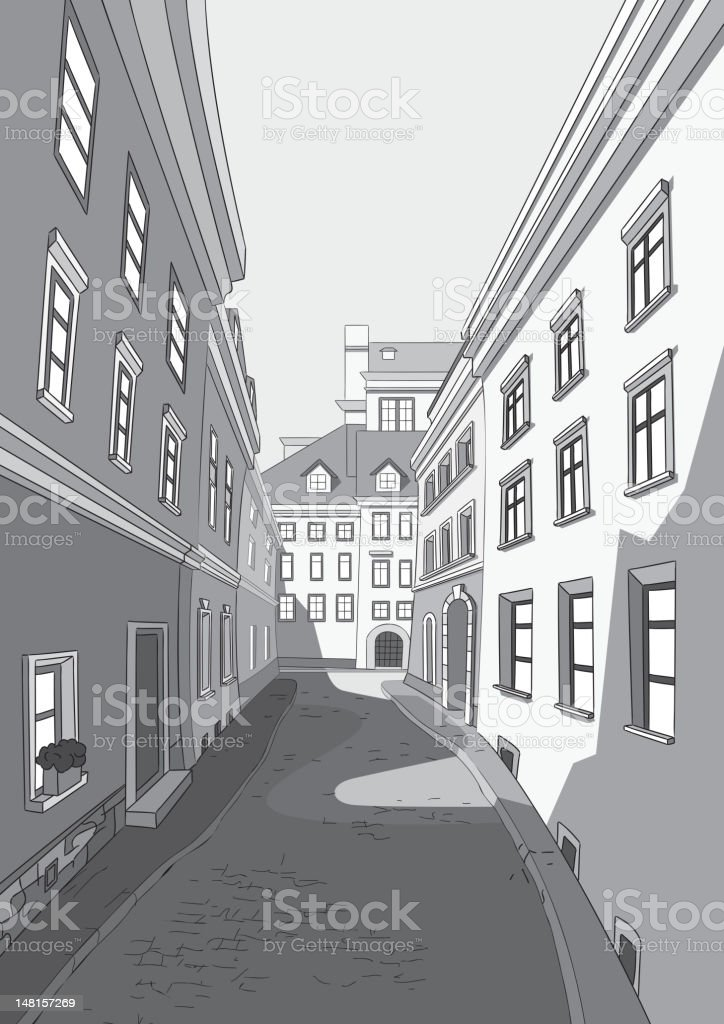 Street of city royalty-free stock vector art