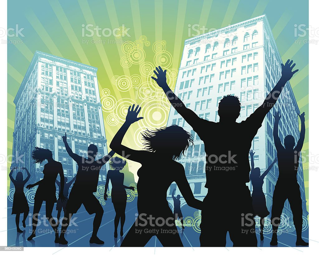 Party di strada party di strada - immagini vettoriali stock e altre immagini di adolescente royalty-free