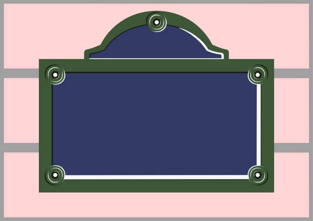 außensprechanlage - straßenschilder stock-grafiken, -clipart, -cartoons und -symbole