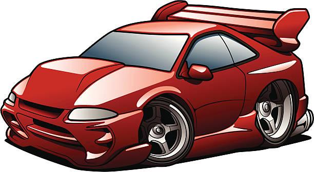 Street Racer vector art illustration