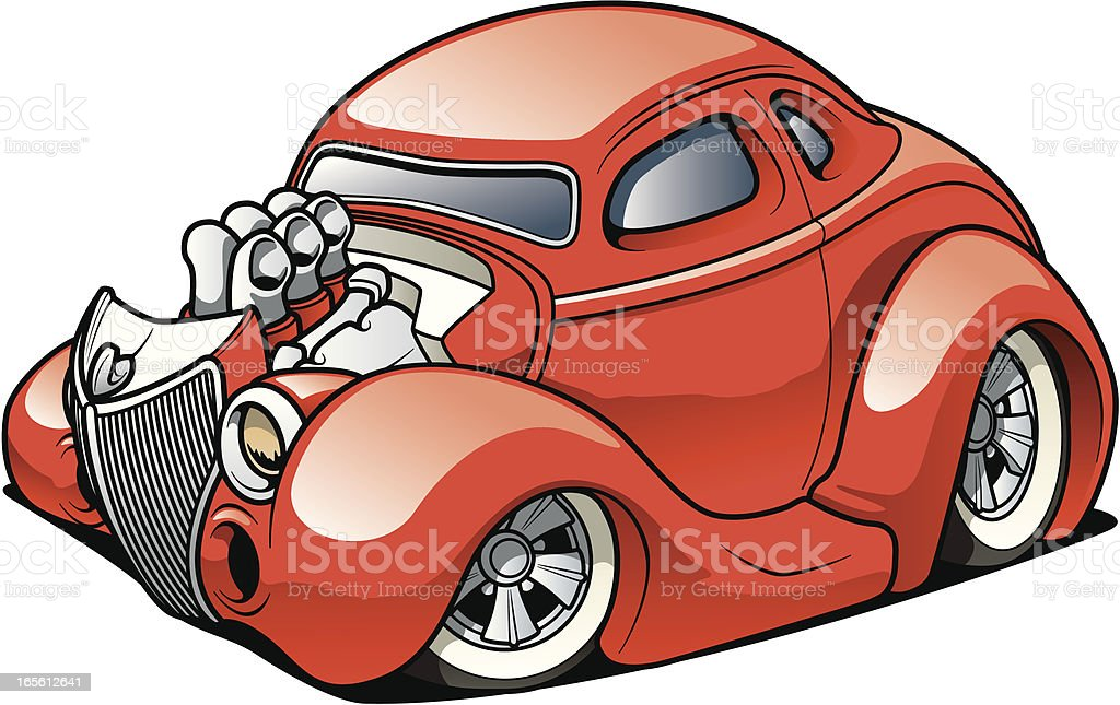 Street Rod coupe royalty-free street rod coupe stock illustration - download image now