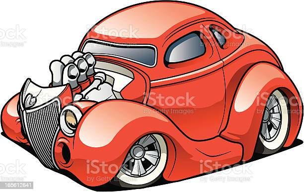 Street Rod Coupe Stock Illustration - Download Image Now