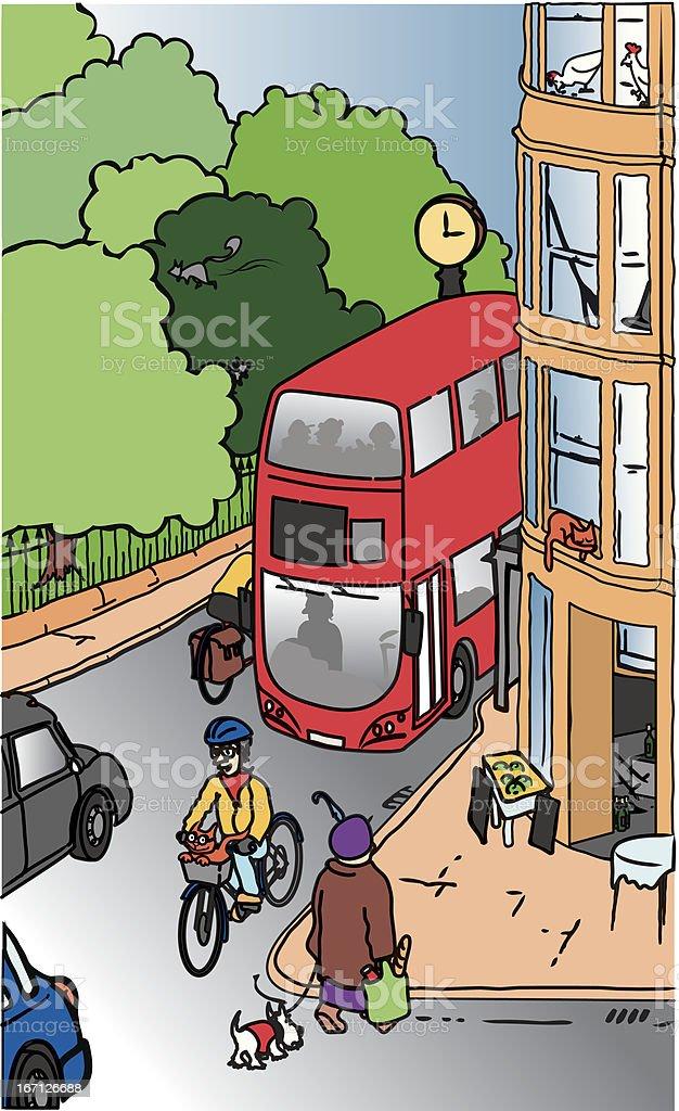 Street scene royalty-free stock vector art
