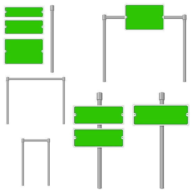 street-elemente - straßenschilder stock-grafiken, -clipart, -cartoons und -symbole