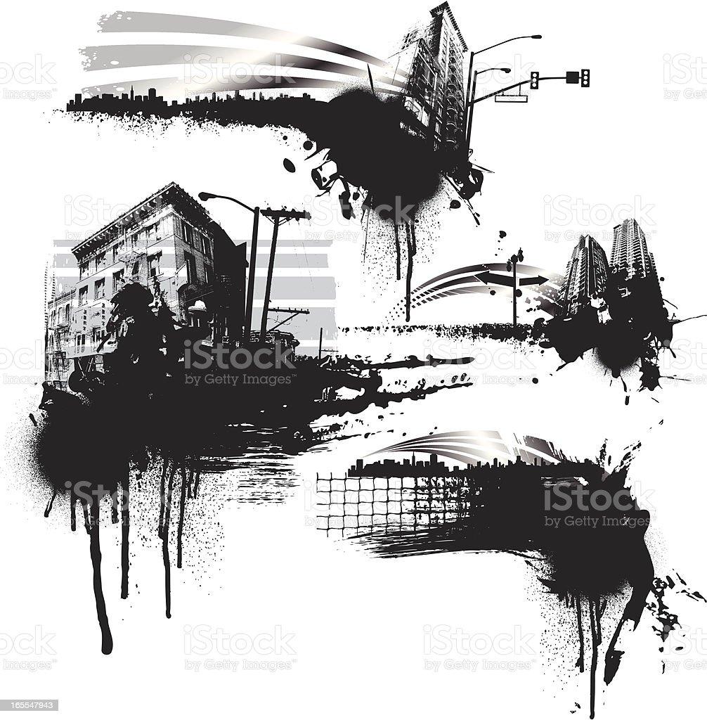 street splatters royalty-free stock vector art