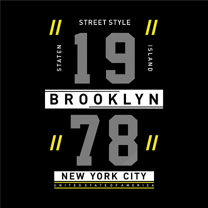 street style new york city t shirt design graphic typography