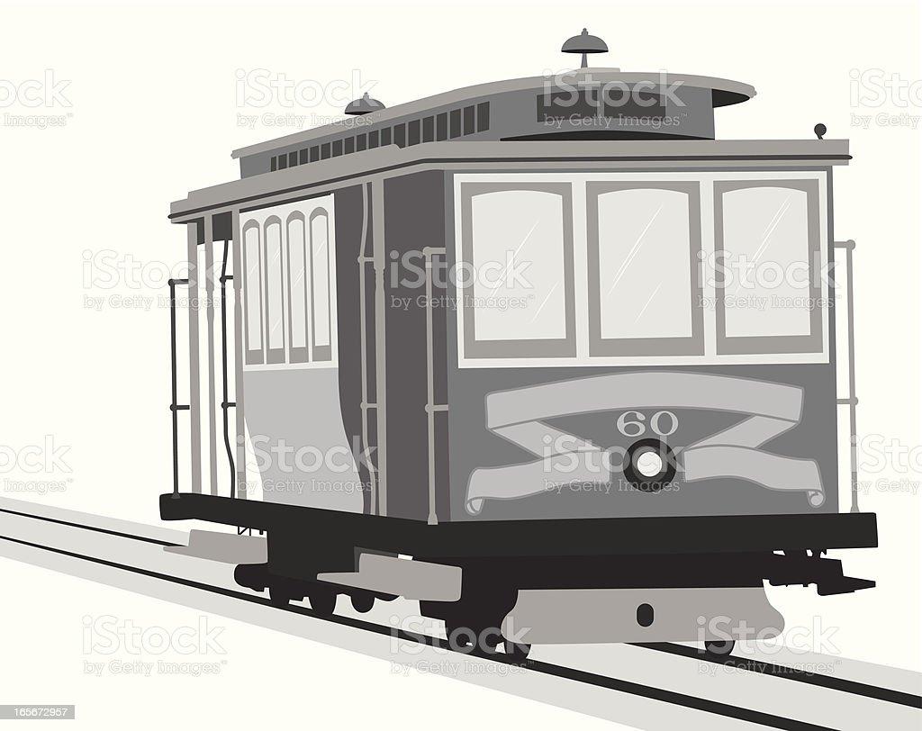 Street Train Vector Silhouette royalty-free stock vector art