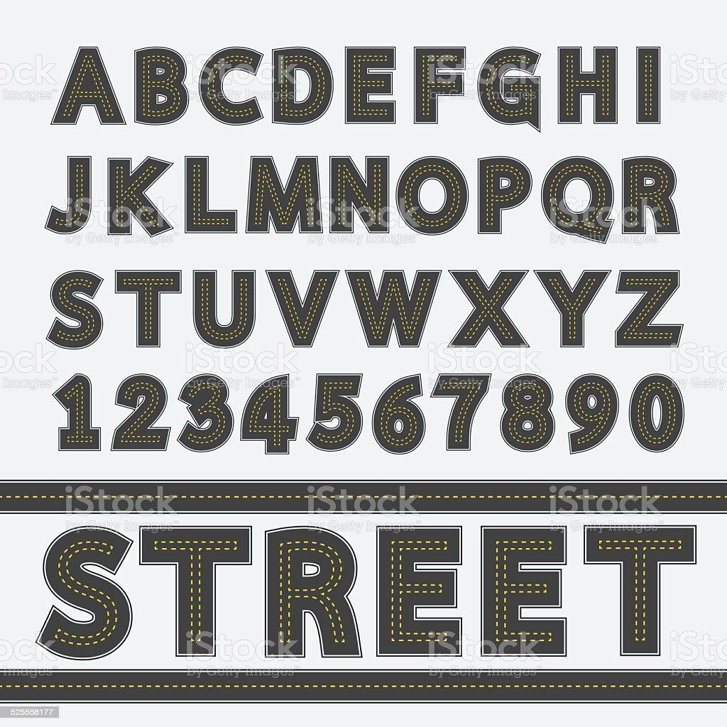Street type font, Typography, Vector illustration vector art illustration