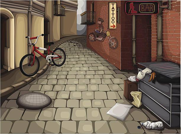 bildbanksillustrationer, clip art samt tecknat material och ikoner med street - gränd
