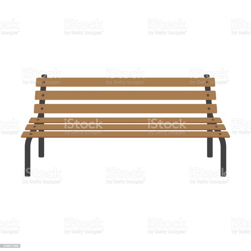 Fine Street Wooden Bench Stock Vector Art More Images Of Bench Pabps2019 Chair Design Images Pabps2019Com
