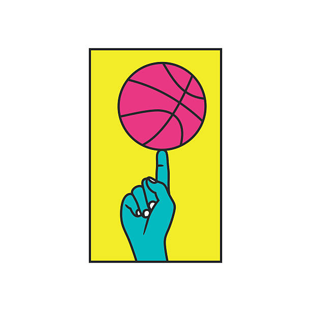 bildbanksillustrationer, clip art samt tecknat material och ikoner med streetball. basketball contest vector illustration - hip hop poster
