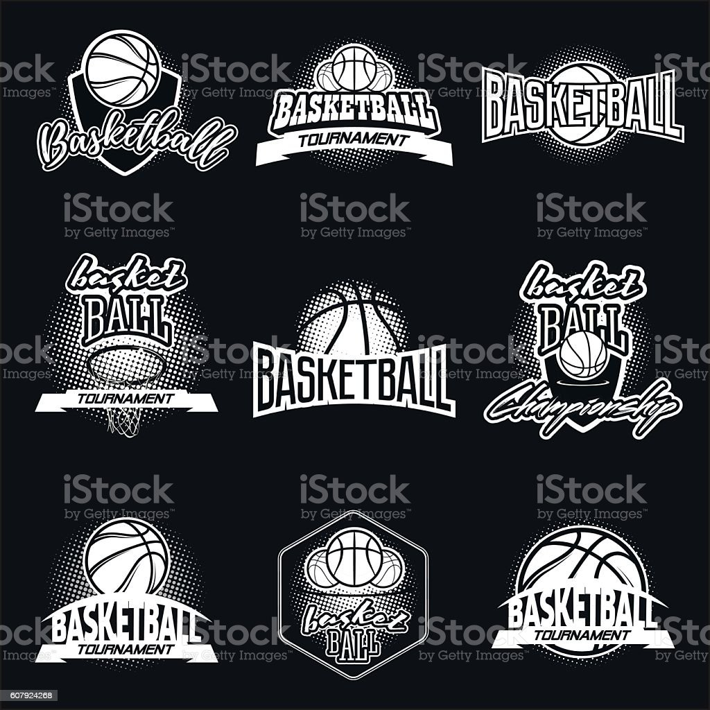 Streetball logo set  - Illustration vectorielle
