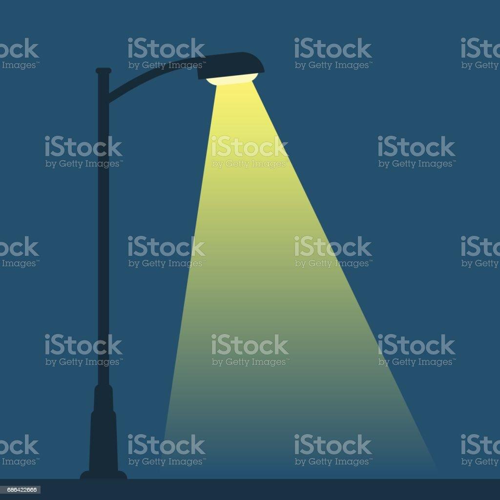 Streetlight lamp post vector art illustration