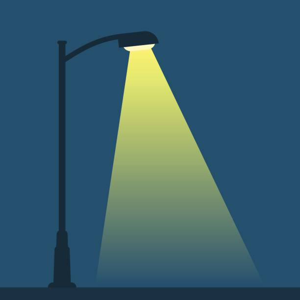 stockillustraties, clipart, cartoons en iconen met streetlight lantaarnpaal - straatlamp