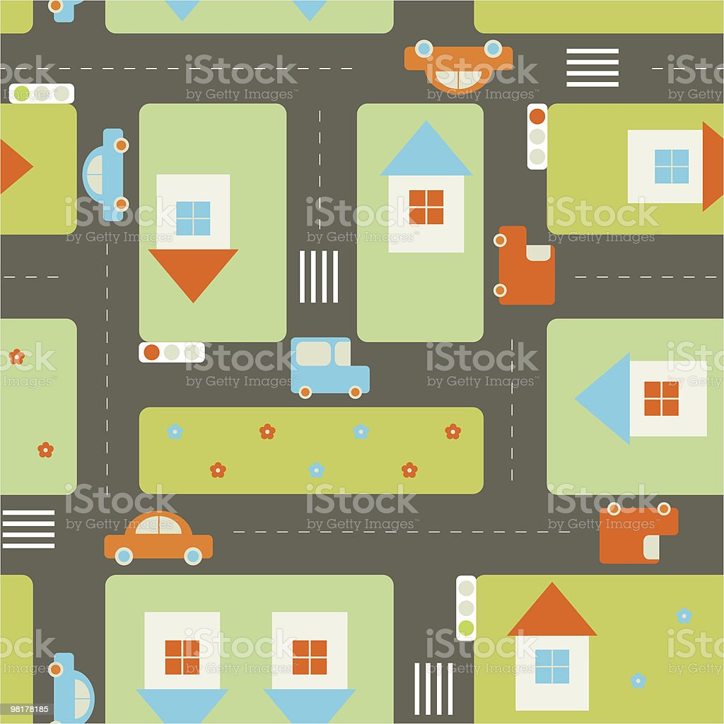 Streets seamless pattern royalty-free streets seamless pattern stock vector art & more images of blue