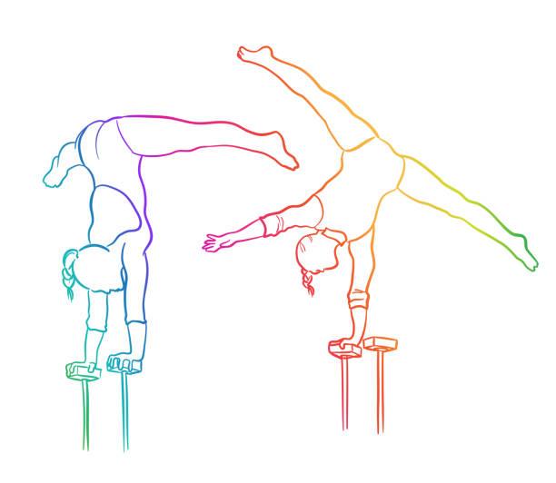 Stärke und Balance Regenbogen – Vektorgrafik
