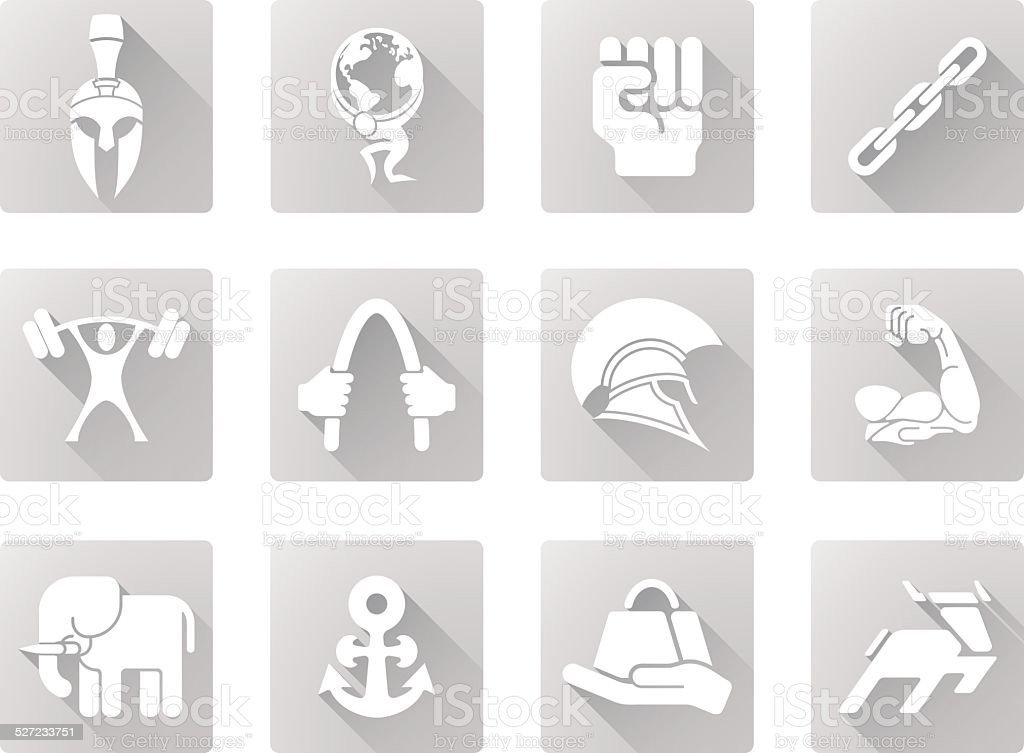 Strength icons vector art illustration