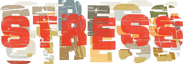 Stress art vector art illustration