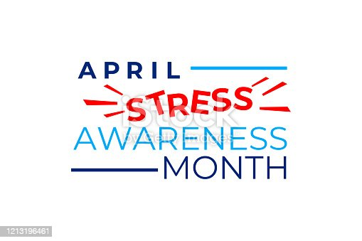 istock Stress Awareness Month vector concept. April is a Stress Awareness Month in the United States. Social media banner, poster, Billboard. Prevention of negative consequences of stress in the modern world 1213196461
