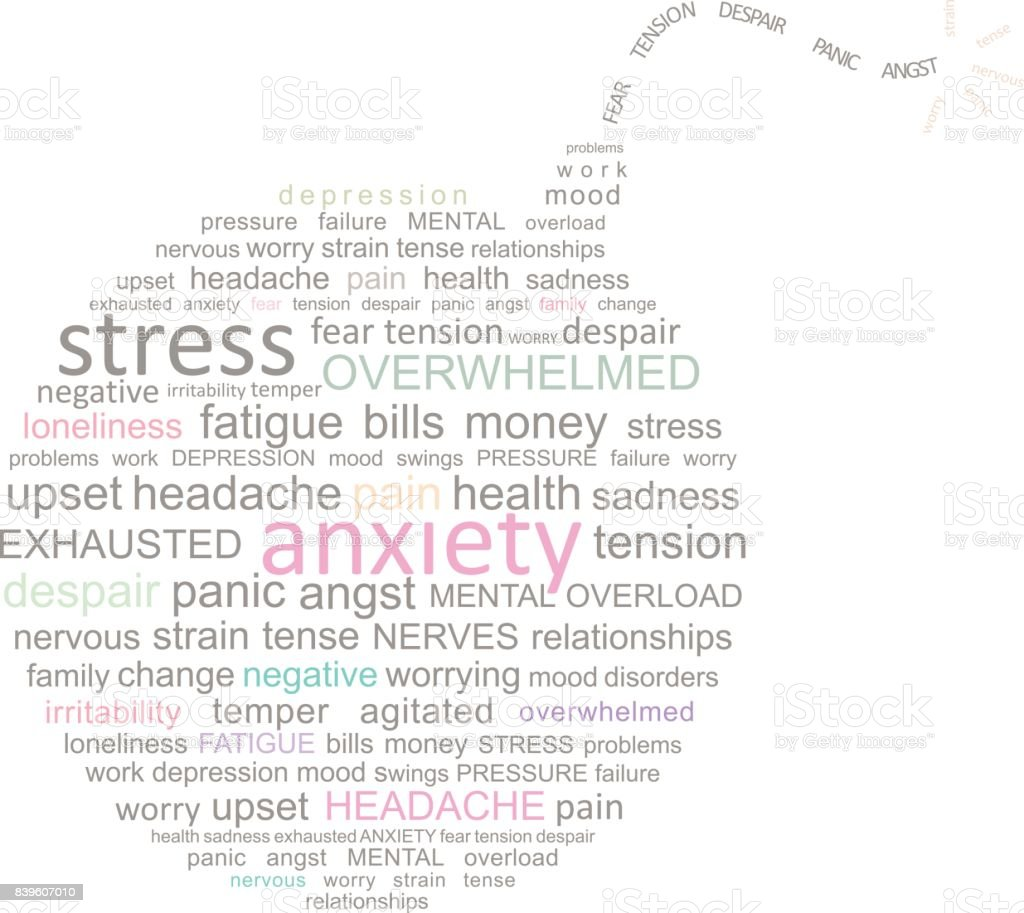 Stress Bombe Word Cloud – Vektorgrafik