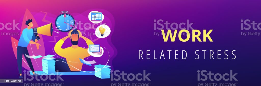 Stress Concept Banner Header Stock Illustration Download Image Now Istock