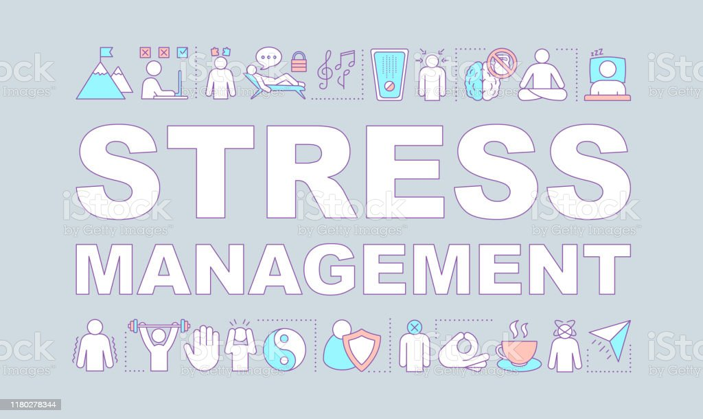 Stress Management Word Concepts Banner Stock Illustration Download Image Now Istock