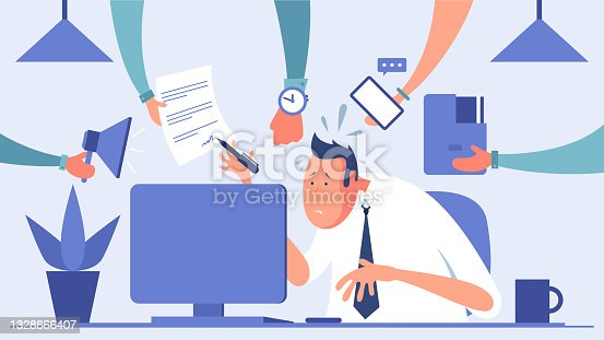 istock Stressed businessman 1328866407