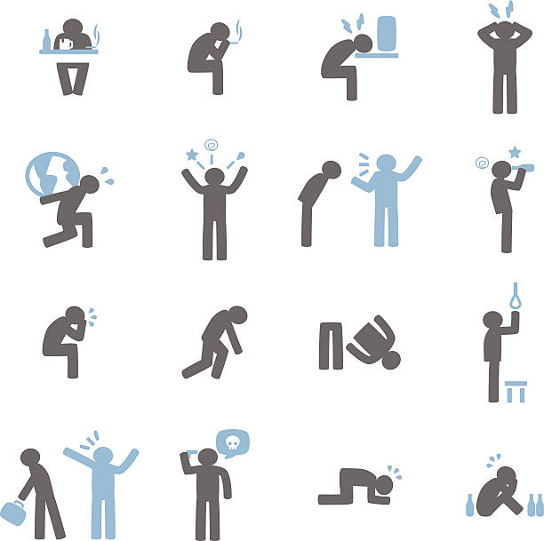 Stressed Icon Vector File of Stressed Icon suicide stock illustrations