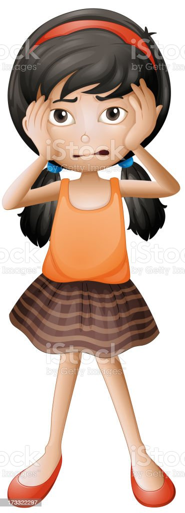 stressed little girl royalty-free stock vector art