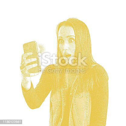 istock Stressed out young on phone with shocked facial expression 1130122551