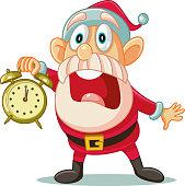 Illustration of a desperate Santa Claus announcing big sale