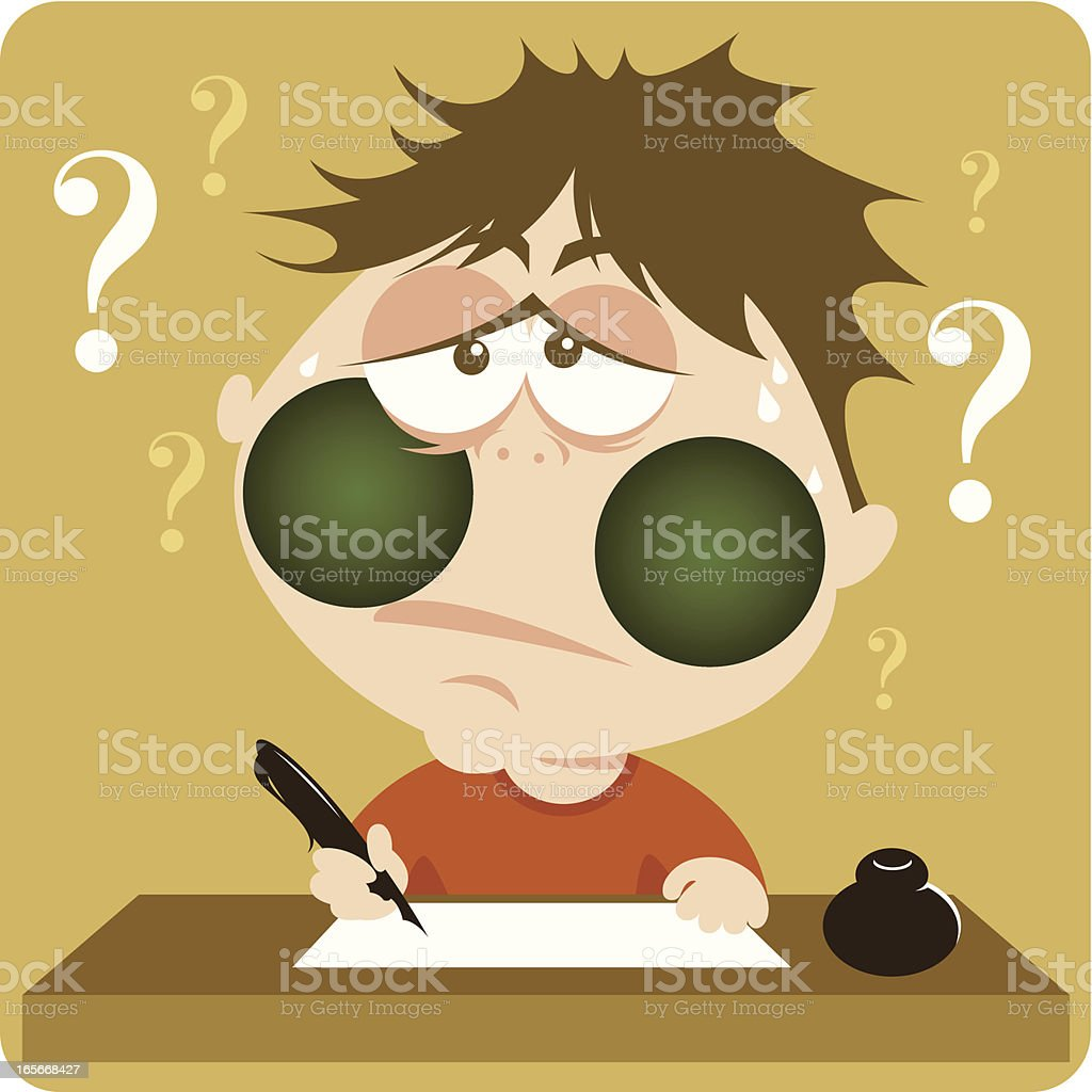 Stressful exam. royalty-free stressful exam stock vector art & more images of adult