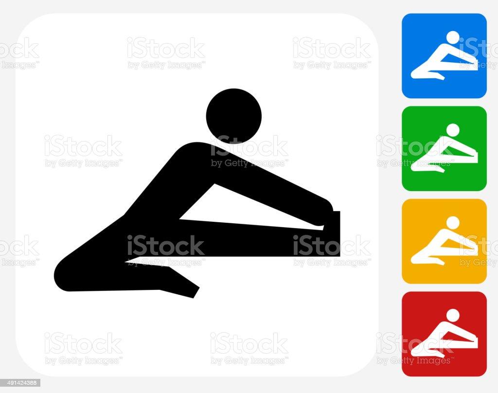 Stretch Icon Flat Graphic Design vector art illustration