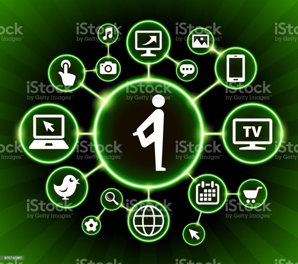 Internet Kommunikation Technologie dunkle Buttons Hintergrund dehnen - Lizenzfrei Bildhintergrund Vektorgrafik