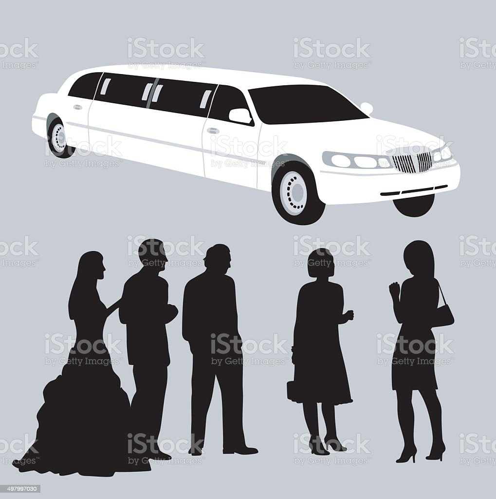 Stretch Limo vector art illustration
