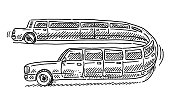 Stretch Limousine Cartoon Car Drawing