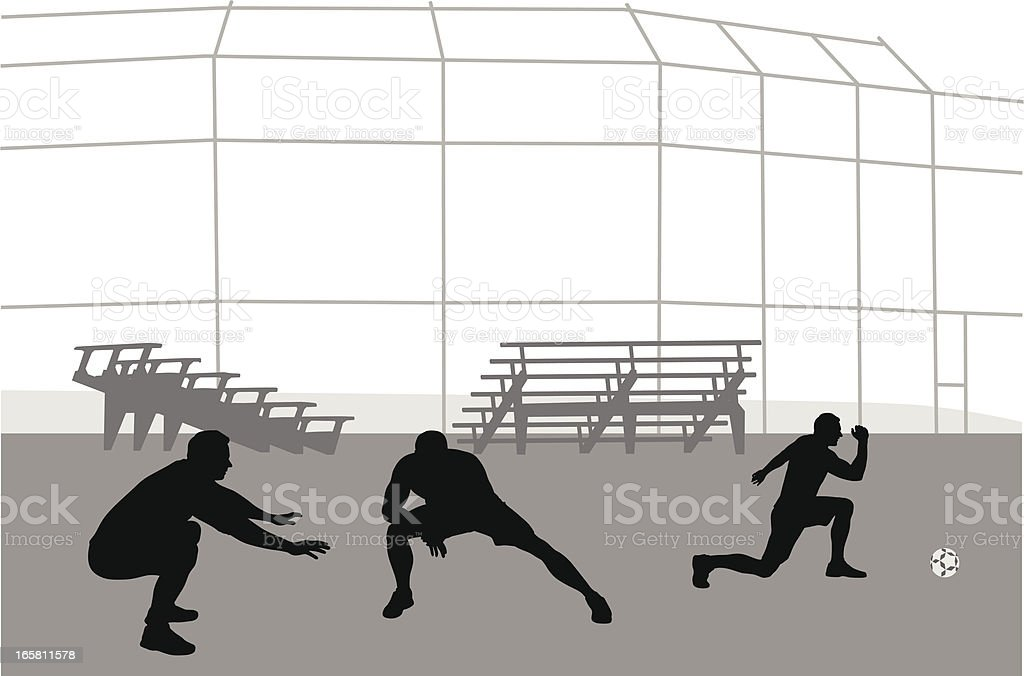 Stretching Vector Silhouette vector art illustration