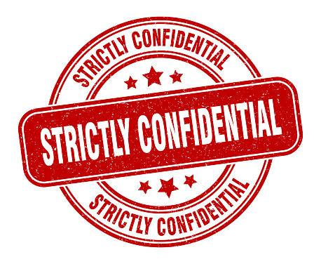 strictly confidential stamp. strictly confidential label. round grunge sign
