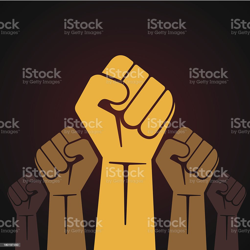 strike against voilence vector art illustration