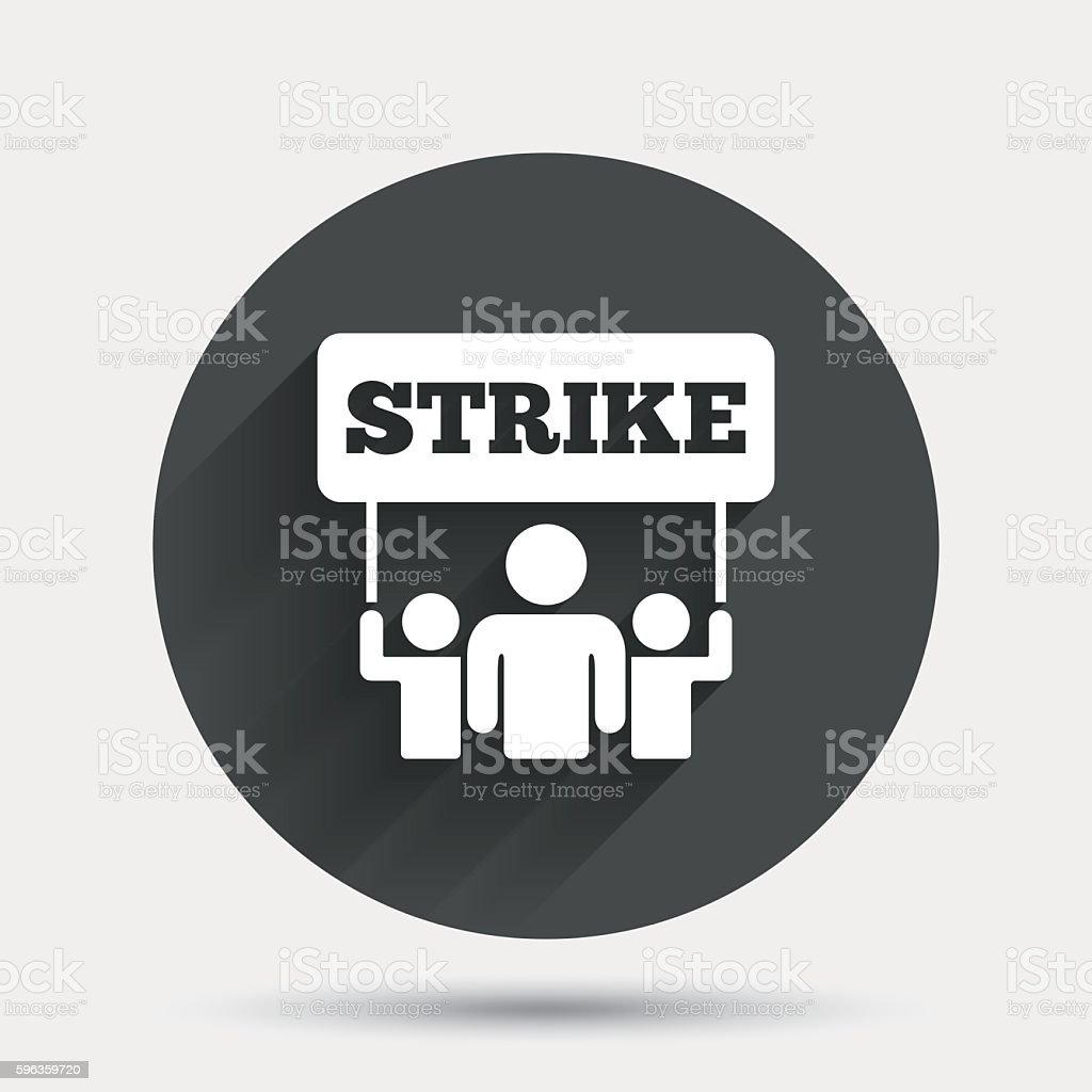 Strike sign icon. Group of people symbol. royalty-free strike sign icon group of people symbol stock vector art & more images of activist