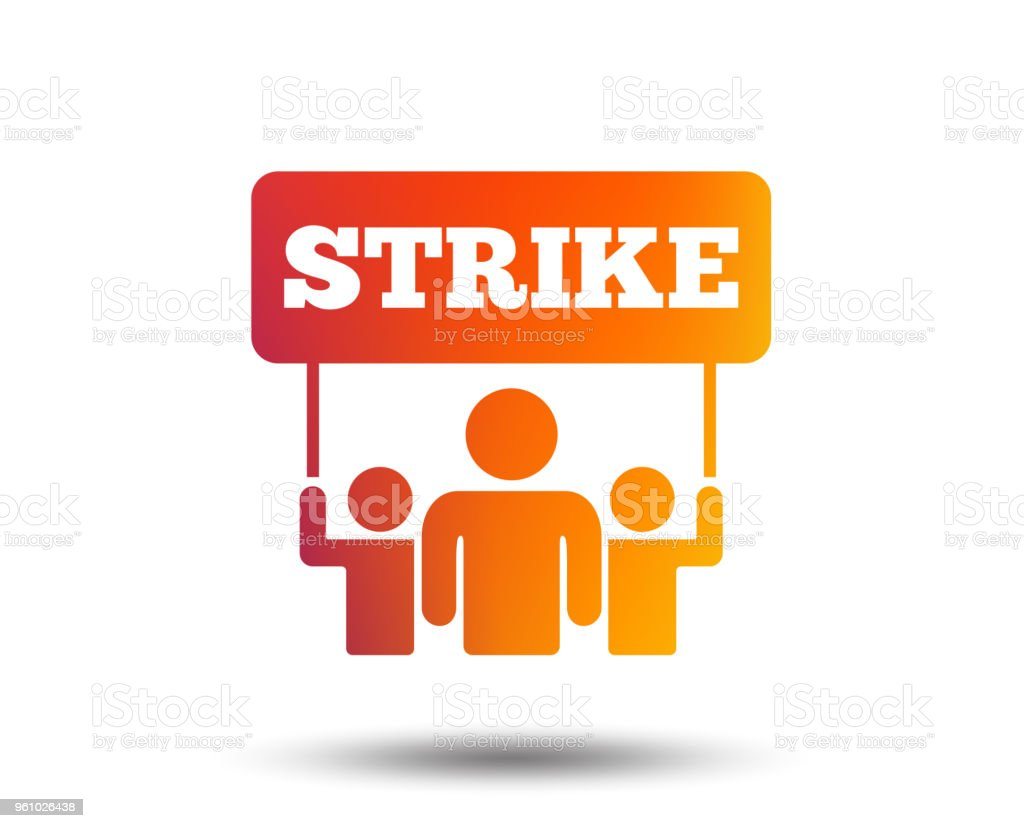 Strike Sign Icon Group Of People Symbol Stock Illustration