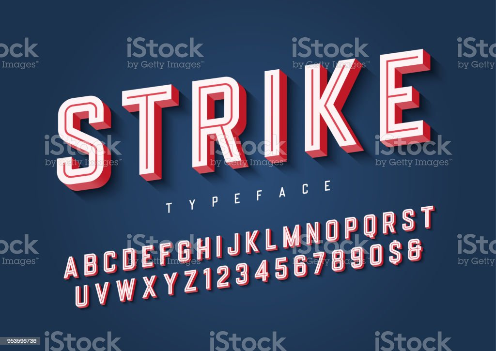 Strike trendy inline sports display font design, alphabet, typef royalty-free strike trendy inline sports display font design alphabet typef stock illustration - download image now